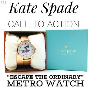 Kate Spade Call To Action Metro Double Wrap Watch